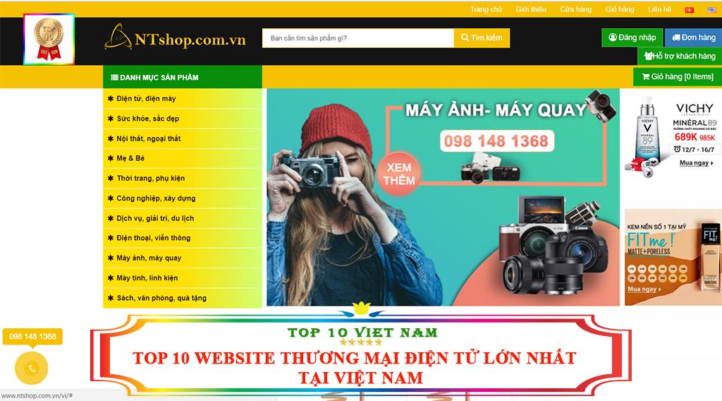 TOP 10 WEBSITE THƯƠNG MẠI ĐIỆN TỬ LỚN NHẤT TẠI VIỆT NAM