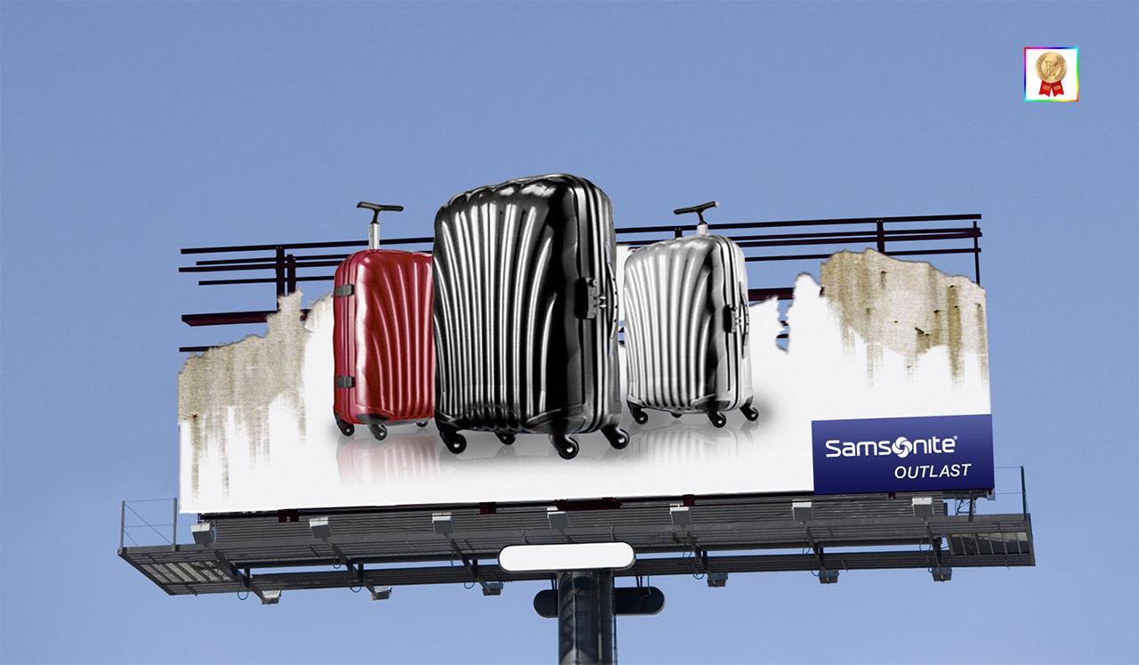 Biển quảng cáo vali ấn tượng