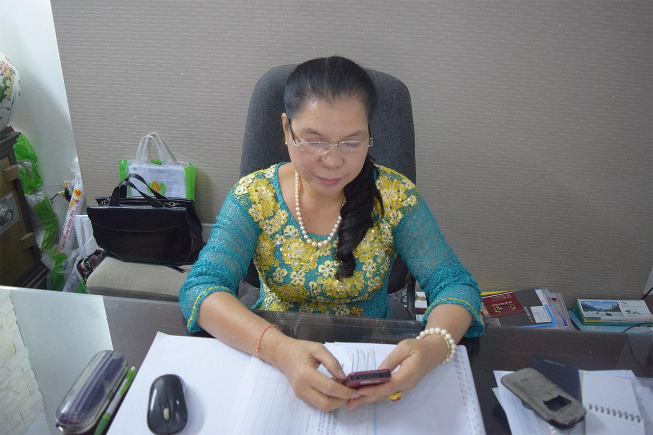 Bà Lê Thu Hằng giám đốc công ty dịch thuật Haco