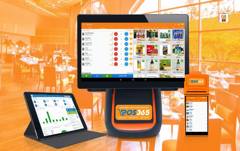 Phần mềm POS365 hoạt động trên nhiều thiết bị