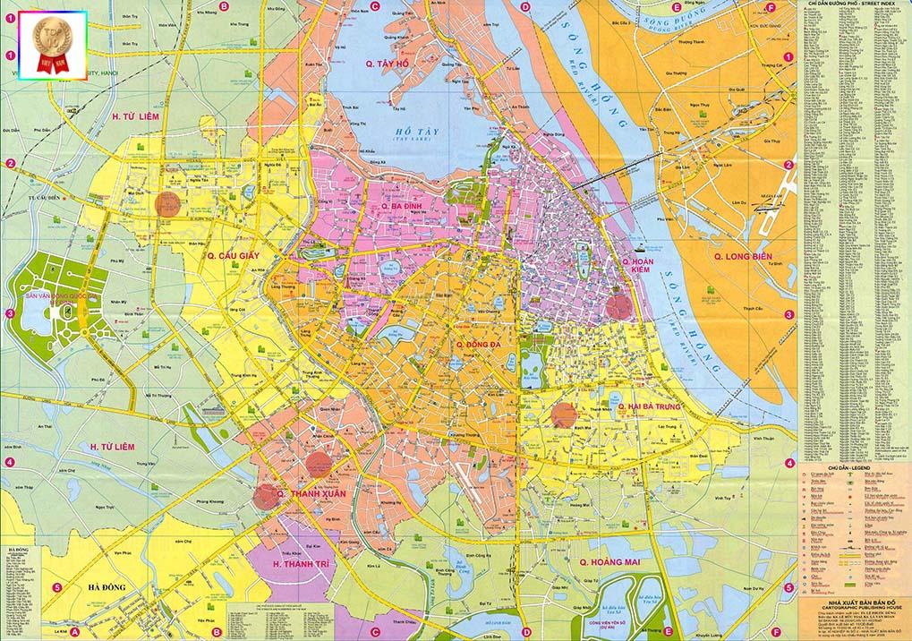 Bản đồ quận huyên Hà Nội