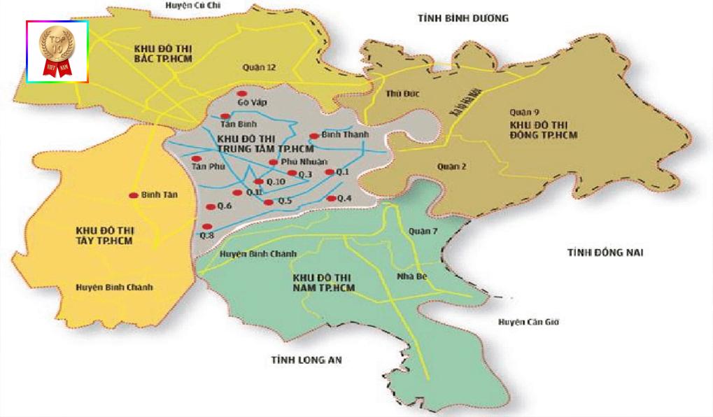 Bản đồ quận huyện TP HCM