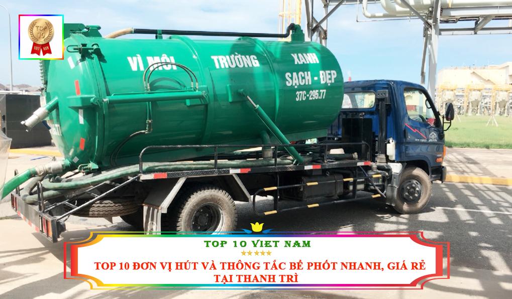 Dịch vụ hút bể phốt nhanh, giá rẻ tại Thanh Trì