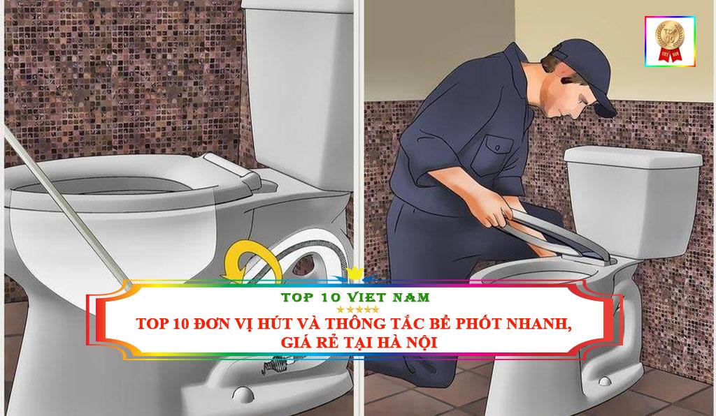 danh sách đơn vị hút bể phốt giá rẻ tại Hà Nội