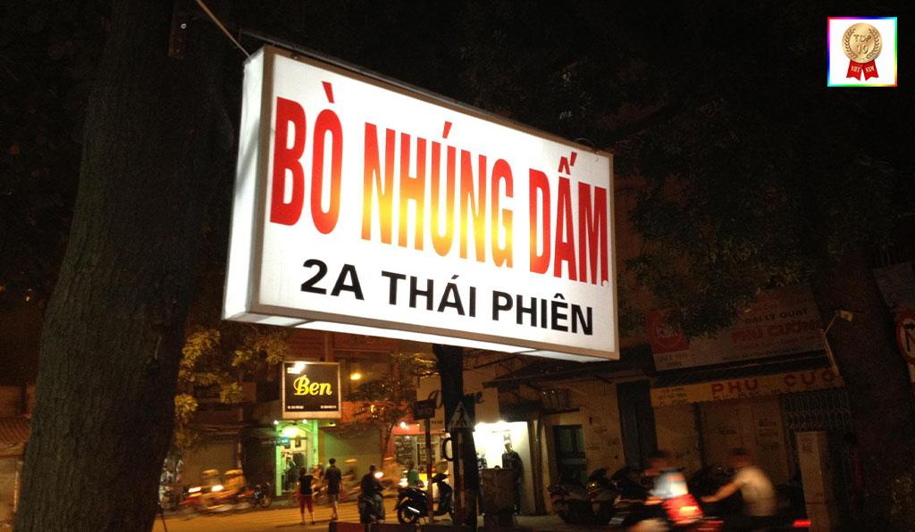 bò nhúng dấm 2A phố Thái Phiên